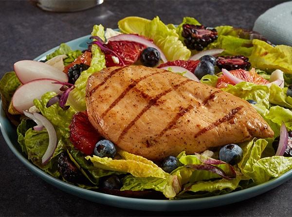 Flame Grilled Chicken Breast Fillet with Fresh Fruit & Citrus Vinaigrette