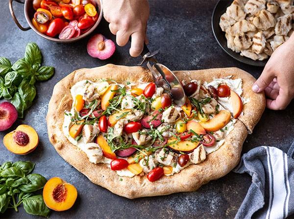 Stone Fruit Flatbread Pizza